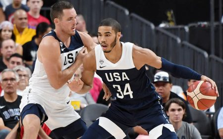 Jayson Tatum será uno de los jugadores a seguir de Estados Unidos en el Mundial de baloncesto de 2019.
