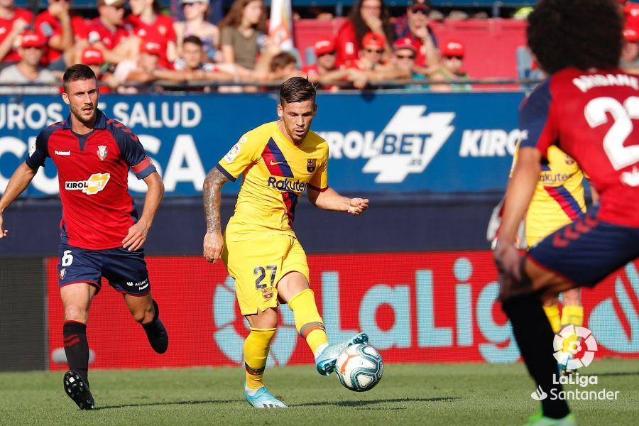 Carles Perez repartió las 2 asistencias de gol del Barça ante el Osasuna.
