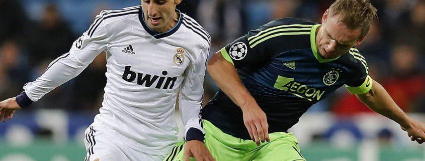 José Rodríguez, en un partido de Champions entre Real Madrid y Ajax.