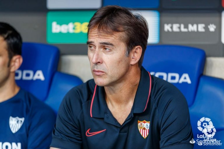 Lopetegui, encargado de llevar al Sevilla 2019-20 al éxito.