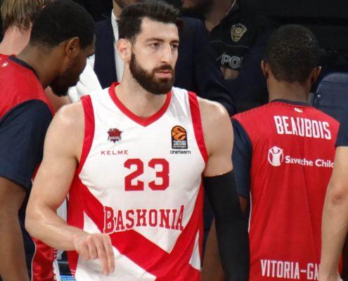 Tornike Shengelia, con la camiseta de Baskonia.