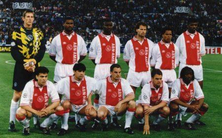 Alineación del Ajax en la Final de la Champions League 1995-96.