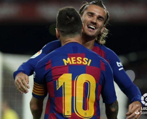 Antoine Griezmann y Leo Messi