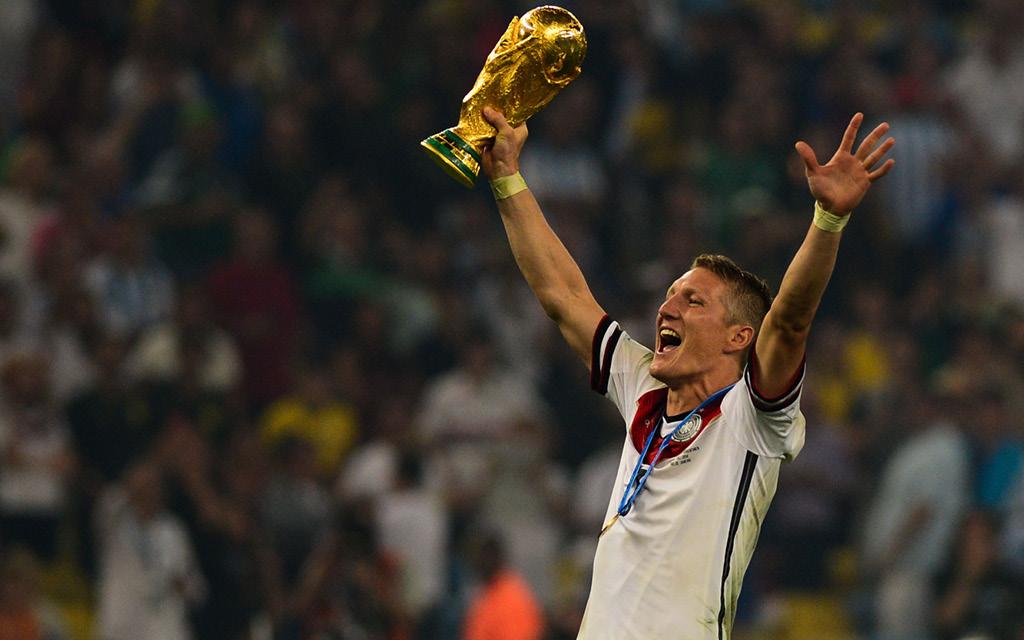 Bastian Schweinsteiger fue Campeón del Mundo con la Selección de Alemania.