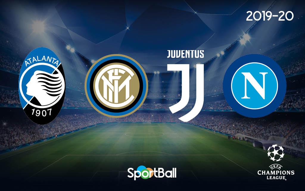 Los equipos italianos en la Champions League 2019-2020