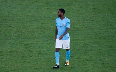 Raheem Sterling, durante un partido con el Manchester City.