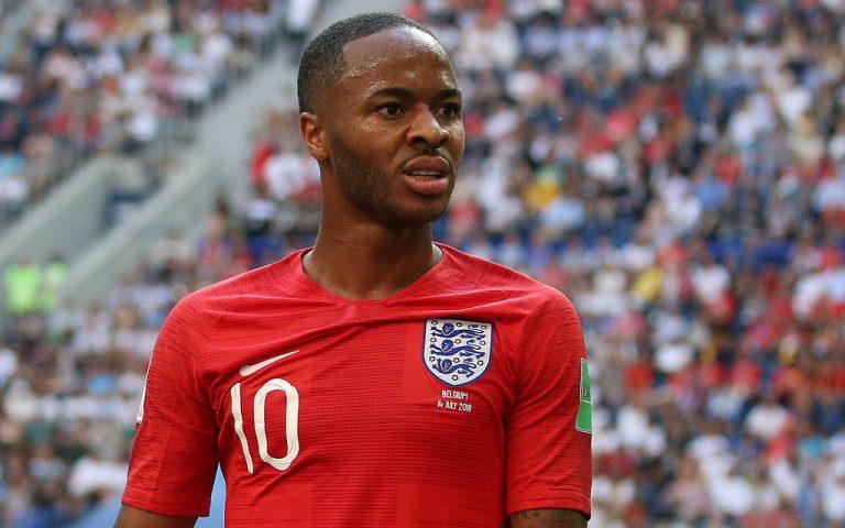 Raheem Sterling, durante un partido con la Selección de Inglaterra.