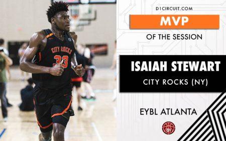 Isaiah Stewart fue MVP de la NIKE EYBL Atlanta con los City Rocks.