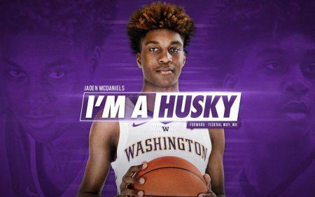 Jaden McDaniels jugará con los Washington Huskies en la NCAA.