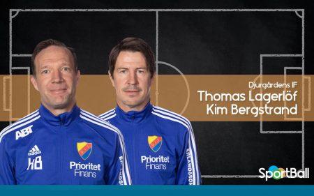 Kim Bergstrand y Thomas Lagerlöf, entrenadores del Djurgårdens IF