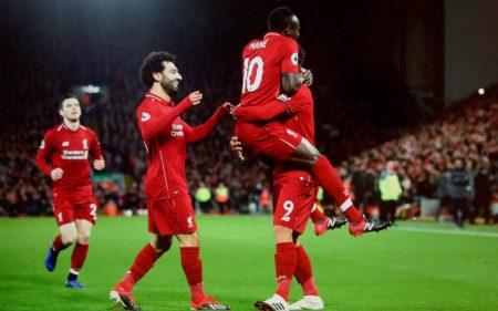 Salah, Mané y Firmino son el temible trío del Liverpool.