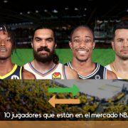 10 jugadores que están en el mercado NBA