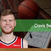 Davis Bertans apunta hacia James Harden y Stephen Curry