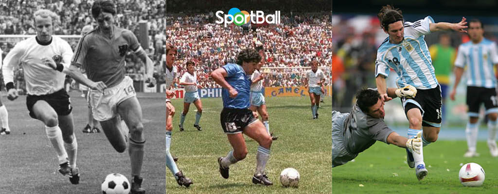 El balón pegado al pie Cruyff, Messi, Maradona...