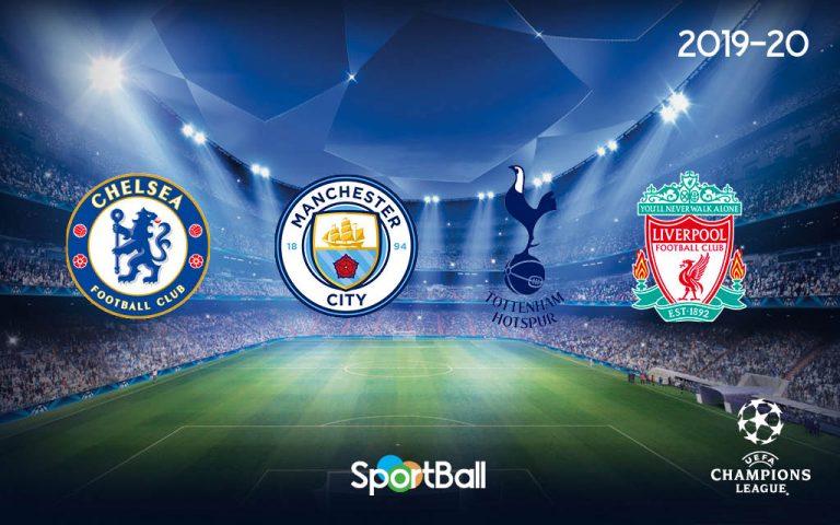 Equipos ingleses la Champions League 2019-2020