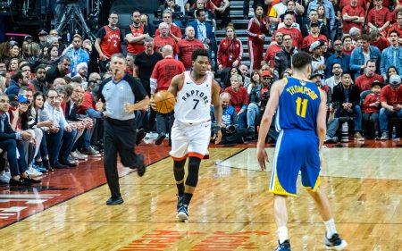 Kyle Lowry, durante las Finales de la NBA 2019 entre Raptors y Warriors.
