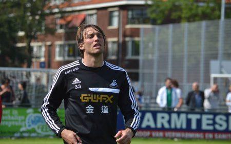 Michu firmó una espectacular temporada 2014-15 con el Swansea City.