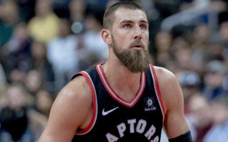 Jonas Valanciunas, en su última temporada con Toronto Raptors.