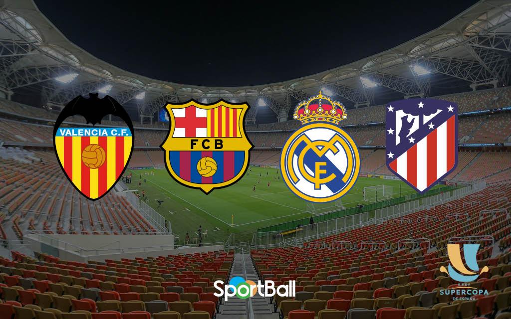 Previa de la Supercopa de España 2020 entre Valencia, Real Madrid, Atlético y Barça