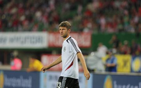 Thomas Müller, con la camiseta de Alemania