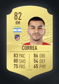 Ángel Correa es el delantero ideal para hacer un equipo barato para FIFA 20 de la liga española.