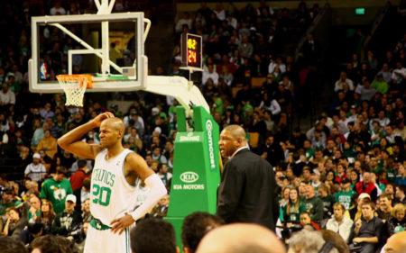 Doc Rivers, junto a Ray Allen en los Boston Celtics.