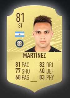 Lautaro Martínez es uno de los mejores delanteros de la liga italiana para fifa 20