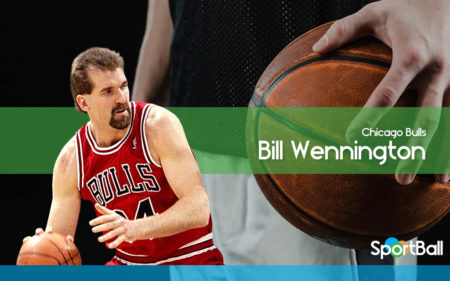 Bill Wennington forma parte de los Chicago Bulls 1997-1998.
