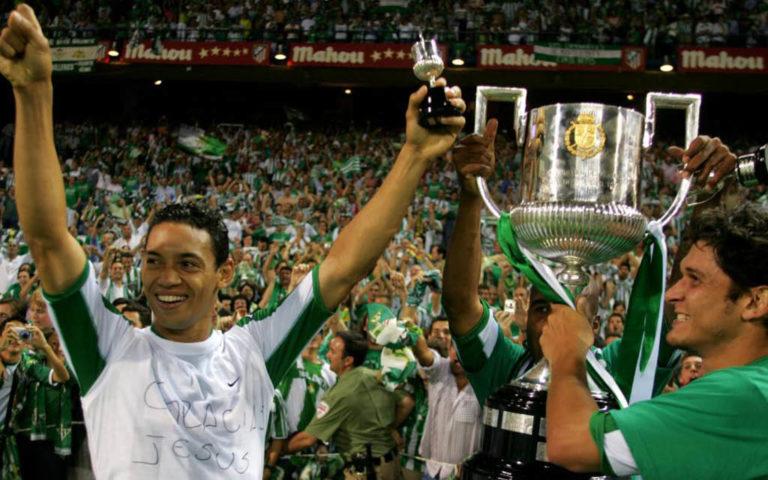 Oliveira y Edu, campeones con el Real Betis 2004-2005 de la Copa del Rey.