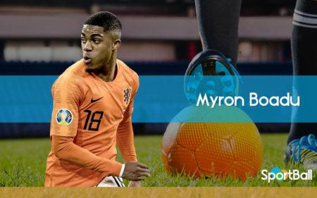 Myron Boadu es uno de los mejores delanteros holandeses jóvenes