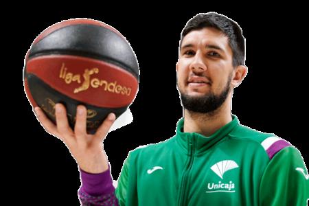 Axel Bouteille es uno de los jugadores del Unicaja Málaga 2020-2021