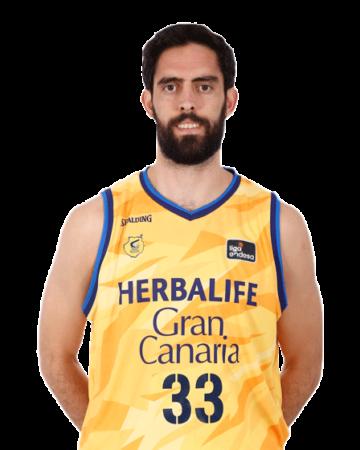 Javier Beirán es uno de los jugadores del Herbalife Gran Canaria 2020-2021