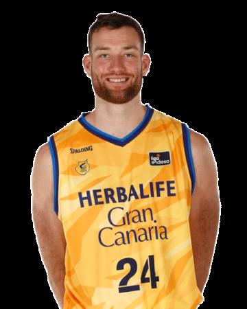 Matt Costello es uno de los jugadores del Herbalife Gran Canaria 2020-2021