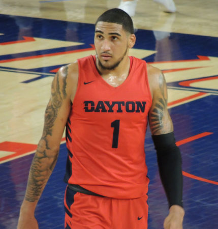 Obi Toppin en un partido de la NCAA con los Dayton Flyers.