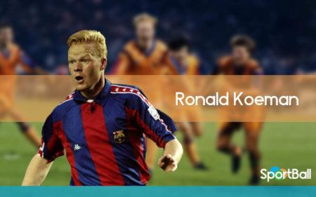 Ronald Koeman es uno de los centrales que más goles han anotado en la historia