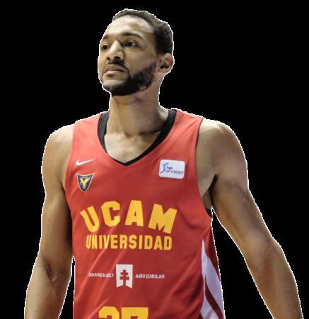 Sadiel Rojas es uno de los jugadores del UCAM Murcia 2020-2021