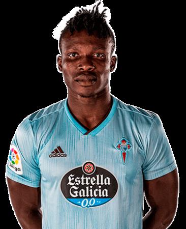 Joseph Aidoo es uno de los jugadores del Celta de Vigo 2020-2021