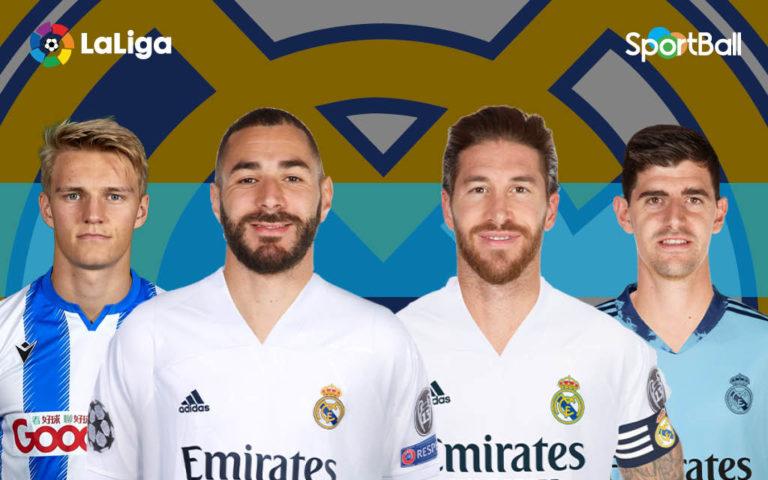 Jugadores actuales de la plantilla Real Madrid