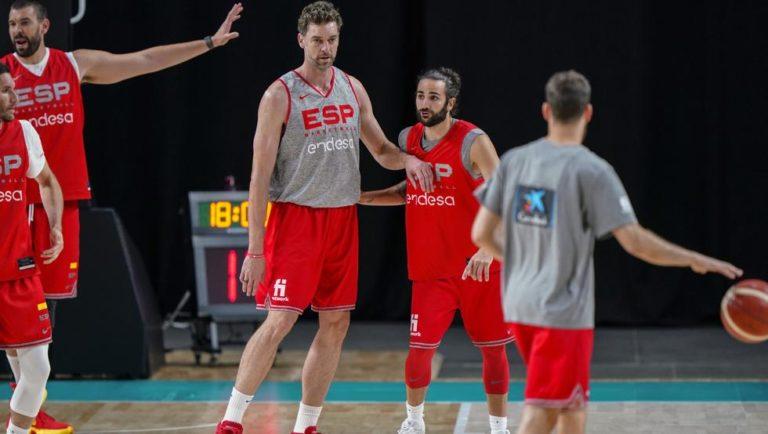 Jugadores de la selección de baloncesto de España